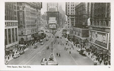 New York City NY * Times Square   RPPC  1940s  Foto Seal Pub. Camel Cigarettes