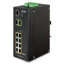 PLANET IGS-10020HPT Industrial 8-Port 802.3at PoE + 2-Port SFP Managed Switch