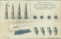 Ansichtskarte Dum-Dum-Geschosse Munition Patronen 1914 (Nr.9623)