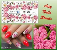 #2713 Slider design for nail art (decal stickers for gel polish, acrylic)