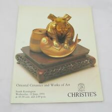 Christie's Auction Catalogue - Oriental Ceramics and Works of Art 1991
