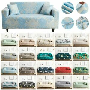 Elastic Slipcover 1/2/3/4 Seaters Stretch Sofa Covers Couch Protector 4 Sizes