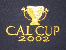 2002 Cal Cup Large Blue Polo Shirt L Calkins Road Best Pal Santa Anita Racetrack