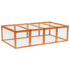 Rabbit Hutch Cage with Run and Play Space Mesh Wire Safety for Outdoor New