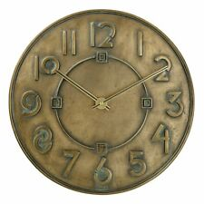 Bulova C3333 Frank Lloyd Wright Exhibition Wall Clock Antique Bronze Metallic...