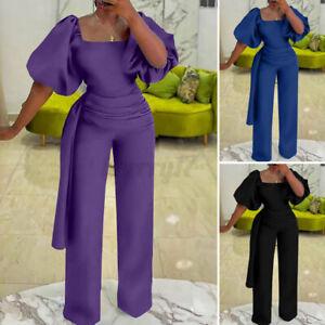 Womens Sexy Evening Party Playsuit Ladies Bodycon Long Jumpsuit Romper Plus Size