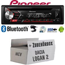 Autoradio Radio Pioneer für Dacia Logan 2 MCV   Bluetooth USB MP3 CD   Einbauset