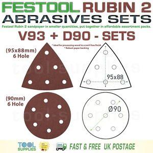 Festool RUBIN 2 ROTEX 90 mm Sandpaper Assortment Packs, RO90DX D90 V93 93V SET