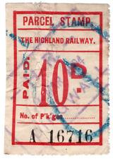 (I.B) The Highland Railway : Parcel Stamp 10d (Dingwall)
