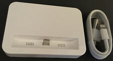 White Docking Station for Iphone 5 5s 5c + 1M Lightning USB Charge Sync Cable