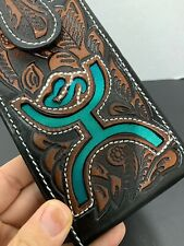 Cowboy/cowgirl Hand Tooled Leather Belt Phone Case - Western