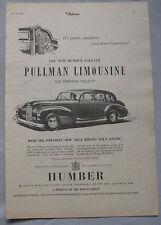 1953 Humber 8-seater Pullman Limousine Original advert No.2
