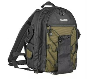 Canon Deluxe Backpack Bag 200EG for Cameras - 6229A003 Black/Green