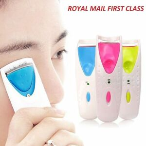 Electric Heated Eyelash Curler Power Battery Beauty Makeup Tool Long Lasting*UK*