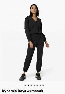 Lululemon Dynamic Days Jumpsuit Jumper Black Quick Drying Stretch Size 6