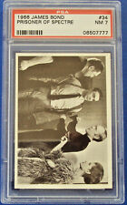 1966 JAMES BOND #34 GRADED PSA 7 PHILADELPHIA GUM THUNDERBALL SECRET AGENT 007