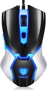 Gaming Mouse, Adjustable DPI, blue backlight, 6 Programmable Buttons, ergonomic