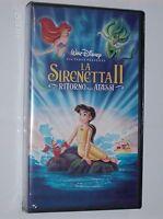 LA SIRENETTA II- RITORNO AGLI ABISSI-Walt Disney-VHS-nuovo