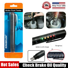 Brake Fluid Liquid Oil Tester Pen 5 LED Indicator Car Testing Tool For DOT3 DOT4