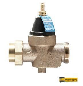 "Watts Water Pressure Reducing Valve 1"" LFN45BM1-U New 25 to 75psi Lead Free"