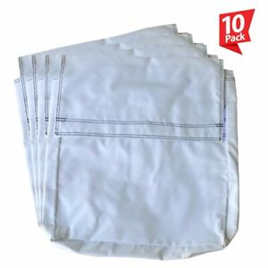 50 Lb 10 White Vinyl Sand Bag Cover Anchor Canopy Tents Inflatable Bounce Houses