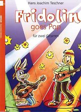 Gitarre Noten : Fridolin goes Pop 1  (f 2 Gitarren) leichte Mittelstufe - mittel