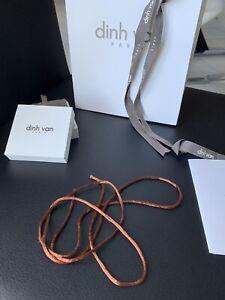 Bracelet Dinh Van Cordon Marron Collier Menotte Or Argent R8 R10 R12 R15 R20