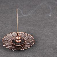 Vintage Retro Lotus Incense Burner Holder for Sticks Cones Coils Incense G