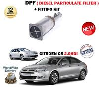 FOR CITROEN C5 2.0 HDI 136BHP 2004-2010 NEW DPF DIESEL PARTICULATE FILTER + KIT