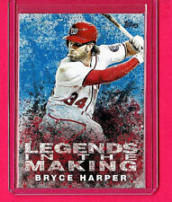 2018 Topps Legends In the Making Blue Variation Bryce Harper Mint Free Shipping