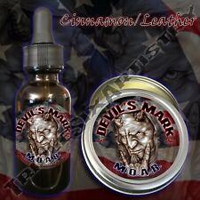 Devil's Mark MOAB Beard Balm Beard Oil by Triple Six Artistry Cinnamon Leather