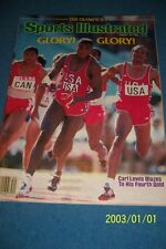 1984 Sports Illustrated USA Olympics CARL LEWIS Wins 4th GOLD No Label FREE/SH