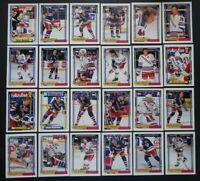 1992-93 Topps New York Rangers Team Set of 24 Hockey Cards