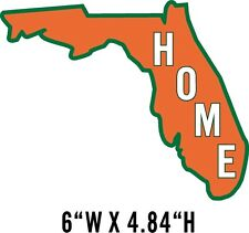 Florida Orange Green Home State Pride Window Decal Sticker  NRA NWTF