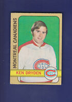 Ken Dryden 1972-73 O-PEE-CHEE Hockey #145 (VGEX) Montreal Canadiens