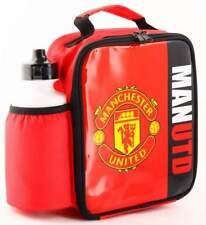 Manchester United Vertical Lunch Bag/Box and 600ml Bottle Set | MUFC Lunchbox