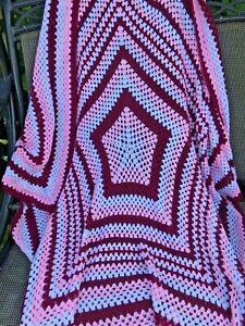 Large Handmade Crochet Blanket/throw