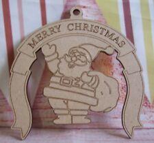 Santa Claus Plaque 100mm Christmas craft blank 5x MDF