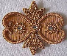 4 Hand-Beaded Appliques. Gold Bullion