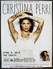 CHRISTINA PERRI 2014 Gig POSTER Concert Salt Lake City Utah