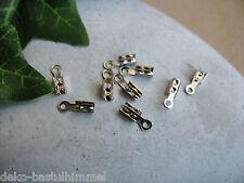 20 Endkappen 8mm in silber, zum Schmuck- Perlen basteln, Verschlüsse befestigen