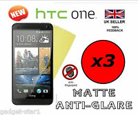 3x HQ MATTE ANTI GLARE SCREEN PROTECTOR COVER LCD GUARD FILM FOR NEW HTC ONE M7