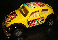 1:36 Scale VOLKSWAGEN BEETLE CAR 23 Careful Win Bug YELLOW Model Toy Vehicle