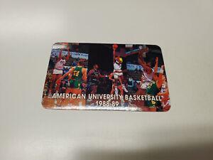 JS15 American University 1988/89 Men's Basketball Pocket Schedule Card