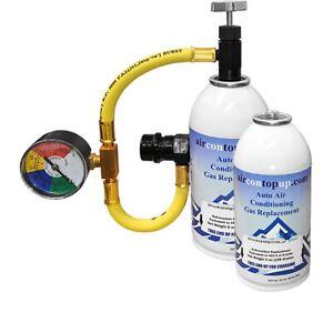 Car AC Aircon Air Con Large 900g Top Up Recharge Refill Regas DIY Gas Kit