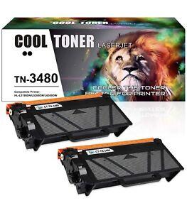 2PK Toner Cartridge fits Brother TN3480 HL-L5000D HL-L5100DN HL-L5200DW