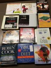 HUGE LOT OF 49 Audiobook CD lot various authors wholesale. Free shipping (lot 5)