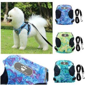 Small Medium Dog Puppy Harness Adjustable Soft Padded Vest Mesh Jacket ocean Sea