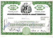 Pennsylvania Power & Light Company 1972