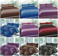 NEW DUVET QUILT COVER WITH PILLOW CASES BEDDING SET SINGLE DOUBLE KING S KING